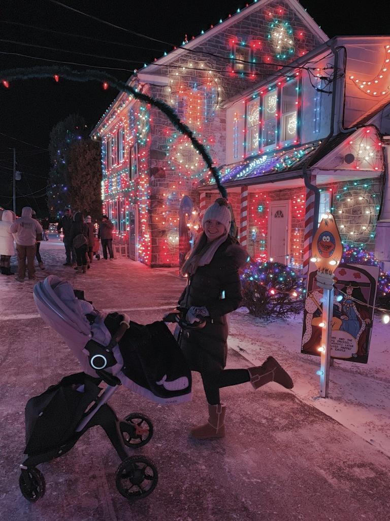 Koziar's Christmas Village with Christmas lights