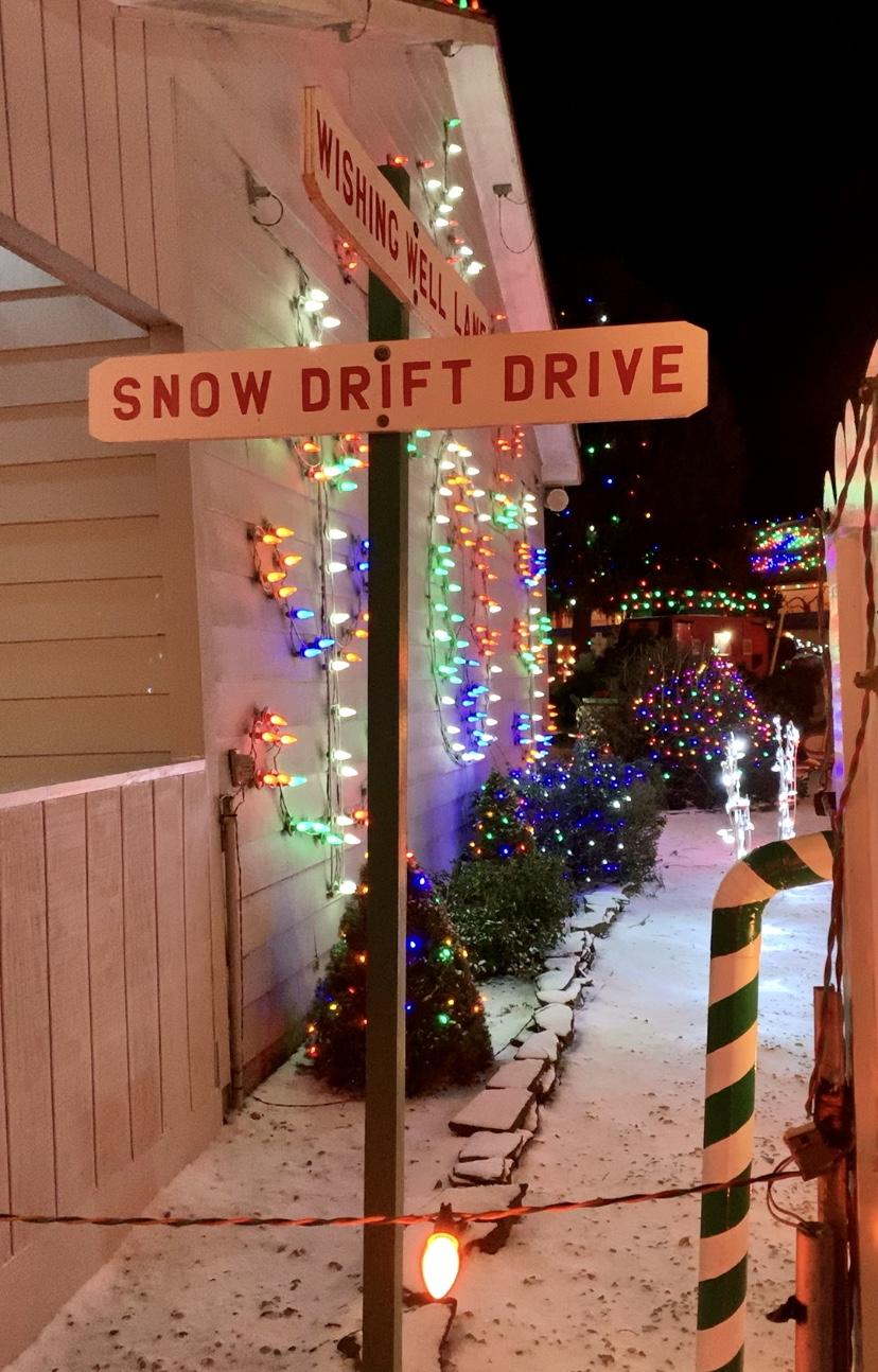 Christmas lights in Koziar's Christmas Village